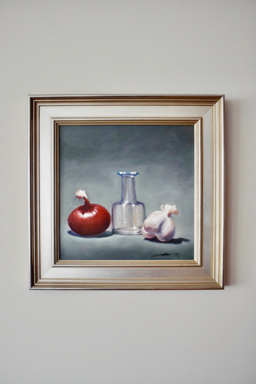 Still Life With Onion In Frame George Geisler Art