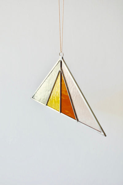 Buckwheat Triangle Suncatcher