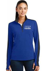 BCS LADIES COLORBLOCK 1/4 ZIP PULLOVER