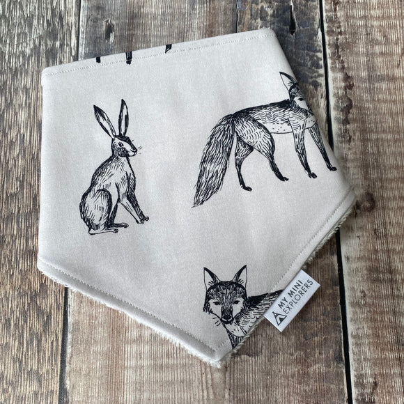 Ink Woodland Dribble Bib