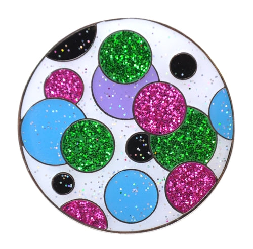 the-ladies-pro-shop-2,Navika Sparkly Ballmarker and Clip Set-Polka Dot Green,Navika,Ballmarkers