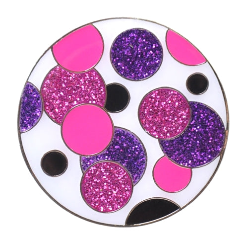 the-ladies-pro-shop-2,Navika Sparkly Ballmarker and Clip Set-Polka Dot Purple,Navika,Ballmarkers