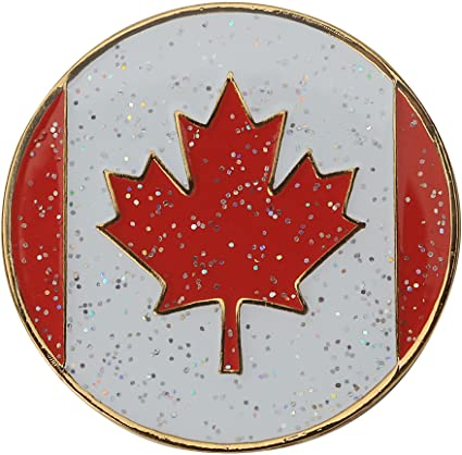 the-ladies-pro-shop-2,Navika Sparkly Ballmarker and Clip Set-Canadian Flag,Navika,Ballmarkers
