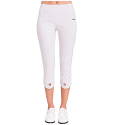 Jamie Sadock Basic Women's Mid Capri Pants - Misty Gray