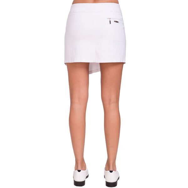 "Jamie Sadock Basic Women's Skinnylicious Pull on 17.5"" Skort - White***"