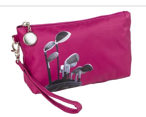 the-ladies-pro-shop-2,Sydney Love Golf Cosmetic Bag with Wristlet-Pink Golf Clubs,Sydney Love,Purses