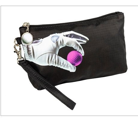 the-ladies-pro-shop-2,Sydney Love Golf Cosmetic Bag with Wristlet-Black,Sydney Love,Purses