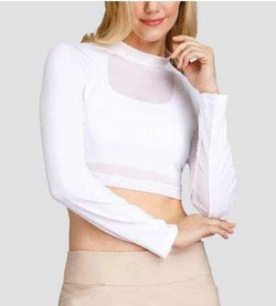 Shirts,Tail,Tail Activewear Women's Layering Mesh Long Sleeved Crop Top,the-ladies-pro-shop-2,ladiesproshop,ladiesgolf,golfclothes,ladiesgolfclothes,cutegolfclothes,womensgolfclothes,ladiesgolfclothing,womensgolfclothing