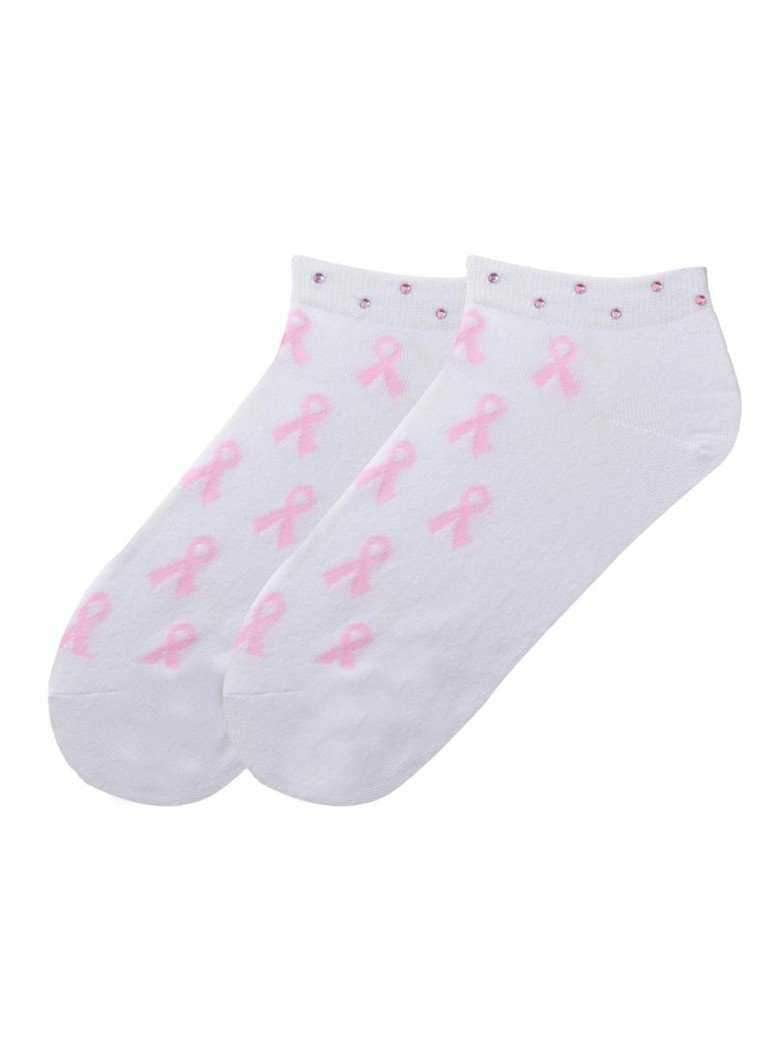 "Socks,KBell,KBell Women ""Pink Ribbon"" Crystal Golf Socks,the-ladies-pro-shop-2,ladiesproshop,ladiesgolf,golfclothes,ladiesgolfclothes,cutegolfclothes,womensgolfclothes,ladiesgolfclothing,womensgolfclothing"