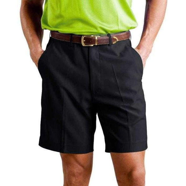 Monterey Club Men's Solid Lightweight Microfiber Flat Front Golf Shorts