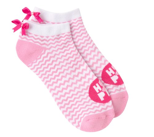 the-ladies-pro-shop-2,KBell Women's Chevron Ribbon Ankle Socks with Bows,KBell,Socks