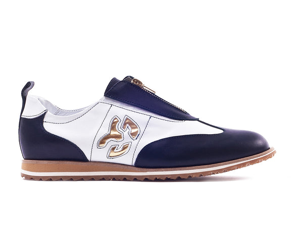 Walter Genuin Women's PopStar Spikeless Golf Shoes-White/Navy