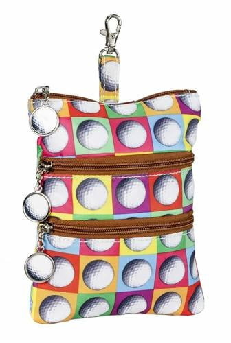 Purses,Sydney Love,Sydney Love On The Ball Clip On Accessory Pouch,the-ladies-pro-shop-2,ladiesproshop,ladiesgolf,golfclothes,ladiesgolfclothes,cutegolfclothes,womensgolfclothes,ladiesgolfclothing,womensgolfclothing