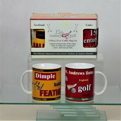 the-ladies-pro-shop-2,Golf Gifts 2-Piece 15th Century Golf Coffee Mug Set,The Ladies Pro Shop,