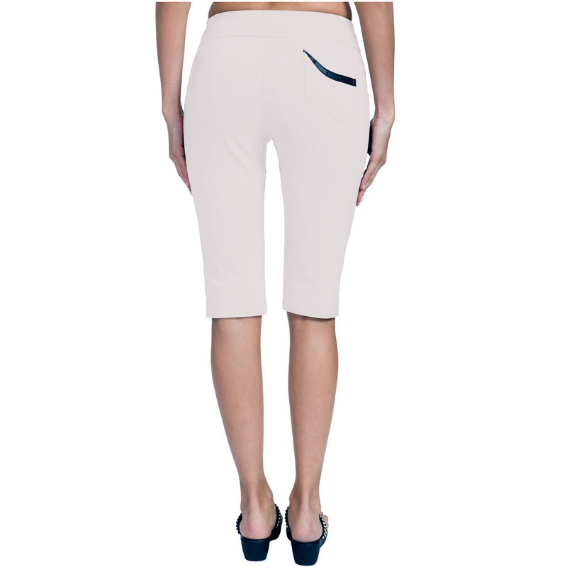 "Jamie Sadock Women's Basic Skinnylicious 24"" Pull-on Knee Capri's - Bisque"