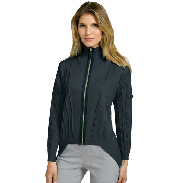 the-ladies-pro-shop-2,Jamie Sadock Women's Full Zip Hi-Low Sweater-Black,Jamie Sadock,Sweaters