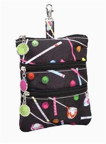 Purses,Sydney Love,Sydney Love Driving Me Crazy Golf Print Clip On Accessory Pouch,the-ladies-pro-shop-2,ladiesproshop,ladiesgolf,golfclothes,ladiesgolfclothes,cutegolfclothes,womensgolfclothes,ladiesgolfclothing,womensgolfclothing