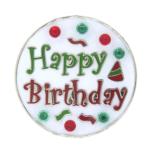 the-ladies-pro-shop-2,Navika Happy Birthday with Crystals  Ballmarker and Clip Set,Navika,Ballmarkers