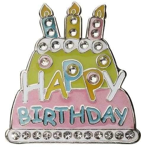 Navika Happy Birthday Cake Sparkly Ballmarker and clip set | The Ladies Pro Shop