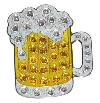 Navika Beer Glass Sparkly Ballmarker and clip set | Navika