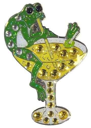 Navika Frog Martini Sparkly Ball Marker and Clip Set - the-ladies-pro-shop-2
