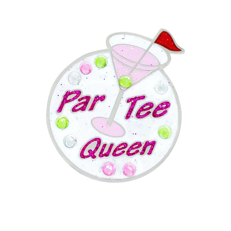 Navika Par Tee Queen Sparkly Ballmarker and clip set