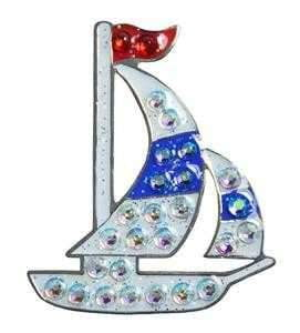 Navika Sailboat Sparkly Ballmarker and clip set | The Ladies Pro Shop