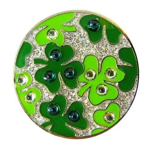 Ballmarkers,Navika,Navika Shamrock Sparkly Ballmarker and clip set,the-ladies-pro-shop-2,ladiesproshop,ladiesgolf,golfclothes,ladiesgolfclothes,cutegolfclothes,womensgolfclothes,ladiesgolfclothing,womensgolfclothing