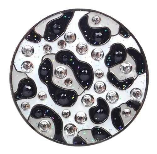 Navika Snow Leopard Sparkly Ballmarker and clip set | The Ladies Pro Shop