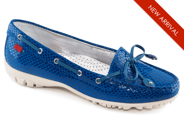 Shoes,Marc Joseph,Marc Joseph Cypress Moc Slip On Golf Shoe-Royal Blue Snake,the-ladies-pro-shop-2,ladiesproshop