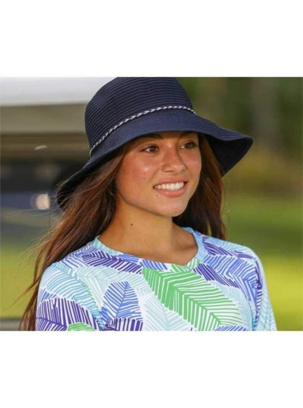 "Dorfman Hat- Ribbon Bucket Hat-3.5"" Brim-4 Colors - the-ladies-pro-shop-2"