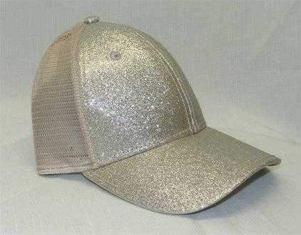 Dorfman Hat- Sparkly Mesh Baseball Cap- 3 Colors