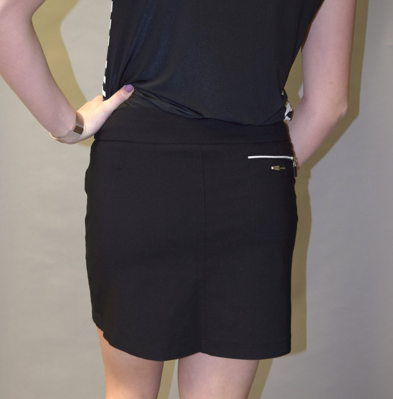 "Jamie Sadock Women's Basic NEW Skinnylicious Pull on 17.5"" Skort-Black"