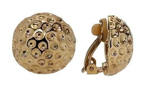 Earrings,Navika,Navika Gold Golf Ball Clip-On Earrings,the-ladies-pro-shop-2,ladiesproshop