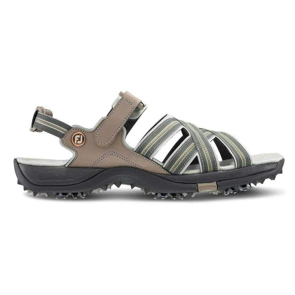 FJ Women's Strappy Golf Sandal-Tan