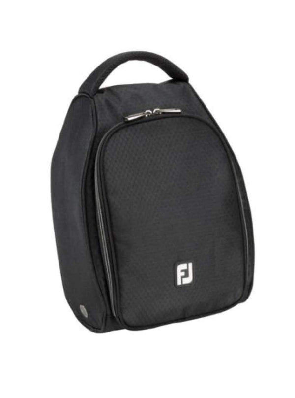 Shoe Bags,FootJoy,FJ Unisex Black Nylon Shoe Bag - Black,the-ladies-pro-shop-2,ladiesproshop,ladiesgolf,golfclothes,ladiesgolfclothes,cutegolfclothes,womensgolfclothes,ladiesgolfclothing,womensgolfclothing