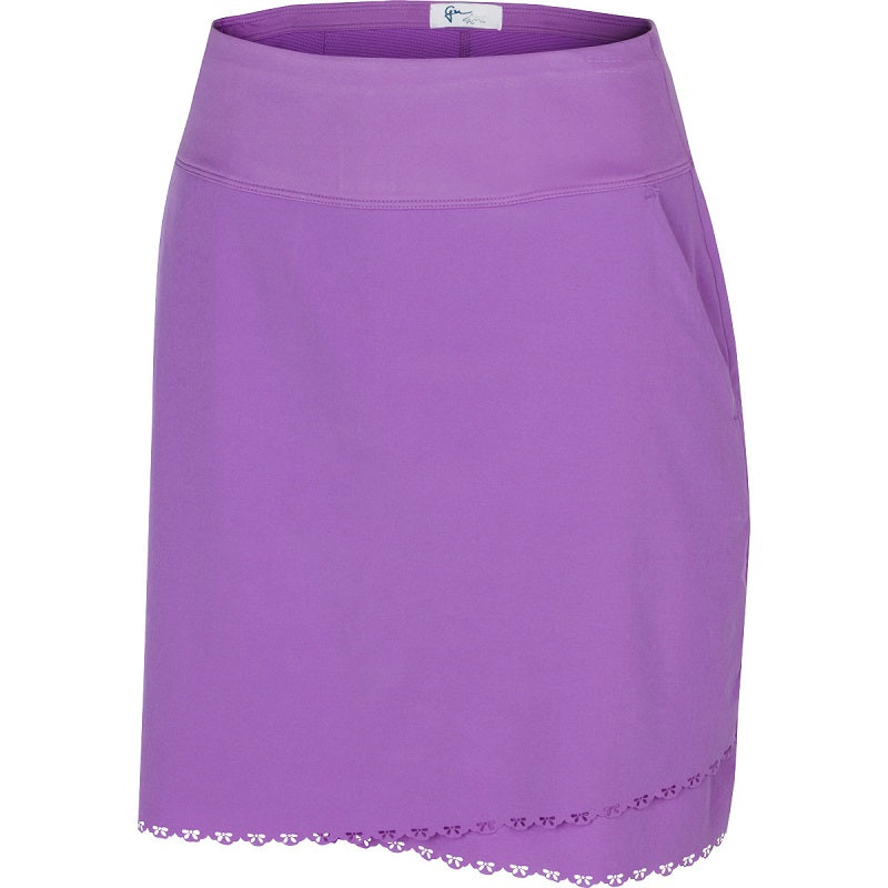"Greg Norman Ladies X-Lite 50 Laser Trimmed 18"" Pull On Golf Skort"