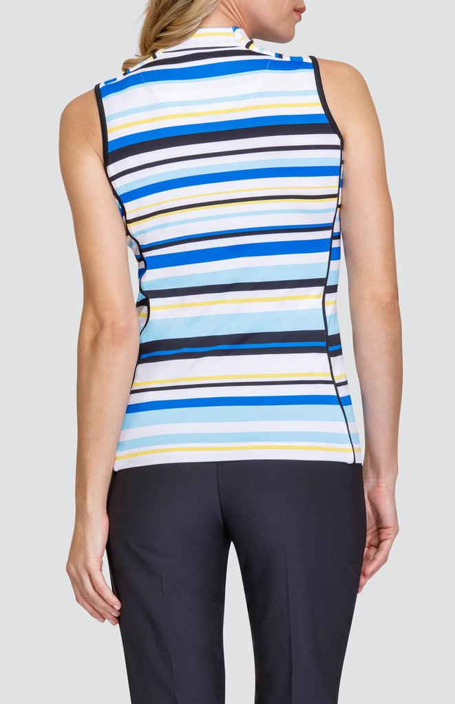 the-ladies-pro-shop-2,Tail Activewear Sleeveless Christine Top - Varied Stripe,Tail,Shirts
