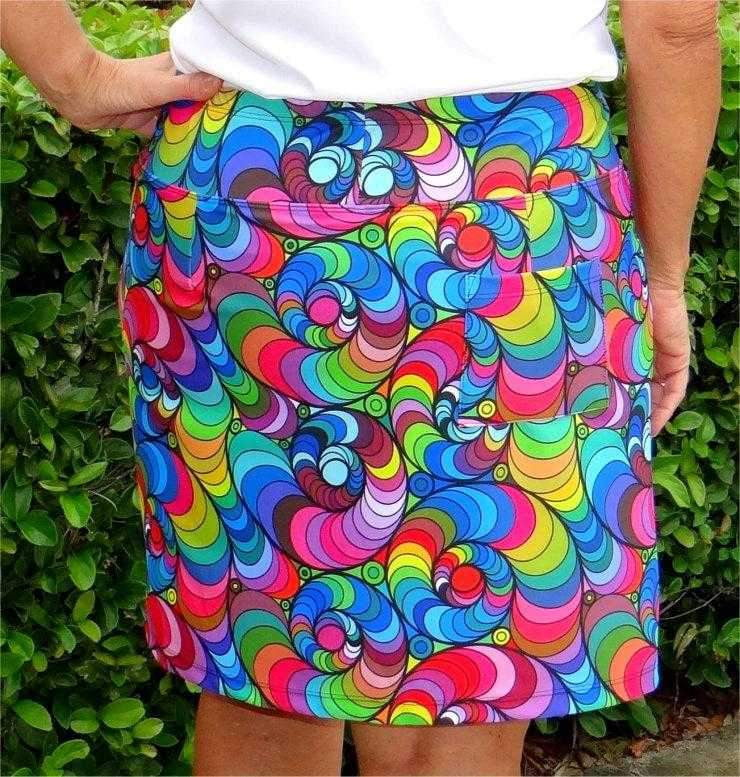 "Skort,Bskinz,Bskinz Women's Knit Printed Stretch 20"" Pull-On Skort-Mod Squad,the-ladies-pro-shop-2,ladiesproshop,ladiesgolf,golfclothes,ladiesgolfclothes,cutegolfclothes,womensgolfclothes,ladiesgolfclothing,womensgolfclothing"