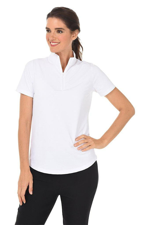Shirts,IBKUL,IBKUL Women's Short Sleeve Solid Mock Neck Golf Sun Protection Shirt - Assorted Colors,the-ladies-pro-shop-2,ladiesproshop,ladiesgolf,golfclothes,ladiesgolfclothes,cutegolfclothes,womensgolfclothes,ladiesgolfclothing,womensgolfclothing