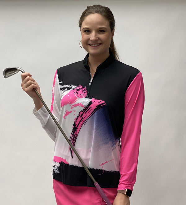 Shirts,Jamie Sadock,Jamie Sadock Sunsense Women's Zen Print Long Sleeve Ultralight Solar Protection Golf Shirt,the-ladies-pro-shop-2,ladiesproshop,ladiesgolf,golfclothes,ladiesgolfclothes,cutegolfclothes,womensgolfclothes,ladiesgolfclothing,womensgolfclothing