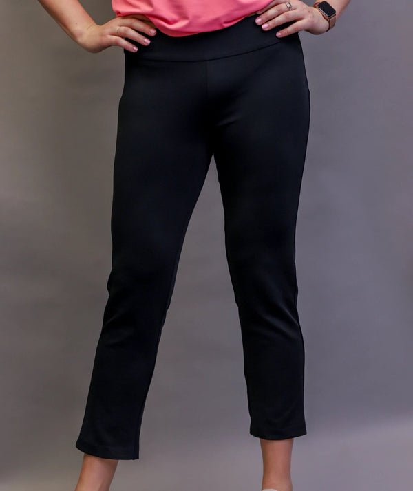 Pants,Tango Mango,Tango Mango Women's Pull on Stretch Pants - Black,the-ladies-pro-shop-2,ladiesproshop,ladiesgolf,golfclothes,ladiesgolfclothes,cutegolfclothes,womensgolfclothes,ladiesgolfclothing,womensgolfclothing