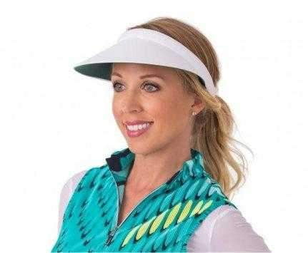 "Kate Lord Lite Mid Sized 4.5"" Brimmed ""No Headache"" Visors with Coil Back"