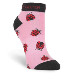 "Socks,KBell,KBell Women ""Lady Bug"" Anklet Socks,the-ladies-pro-shop-2,ladiesproshop,ladiesgolf,golfclothes,ladiesgolfclothes,cutegolfclothes,womensgolfclothes,ladiesgolfclothing,womensgolfclothing"