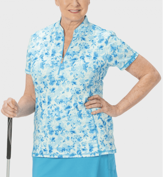 Shirts,Nancy Lopez,NANCY LOPEZ GLIMMER SHORT SLEEVE POLO PLUS MIST MULTI,the-ladies-pro-shop-2,ladiesproshop,ladiesgolf,golfclothes,ladiesgolfclothes,cutegolfclothes,womensgolfclothes,ladiesgolfclothing,womensgolfclothing