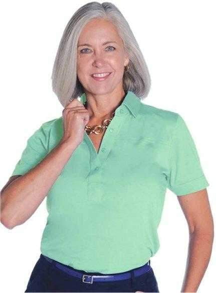 Shirts,Leon Levin,Leon Levin Basic Short Sleeved Golf Shirt,the-ladies-pro-shop-2,ladiesproshop,ladiesgolf,golfclothes,ladiesgolfclothes,cutegolfclothes,womensgolfclothes,ladiesgolfclothing,womensgolfclothing