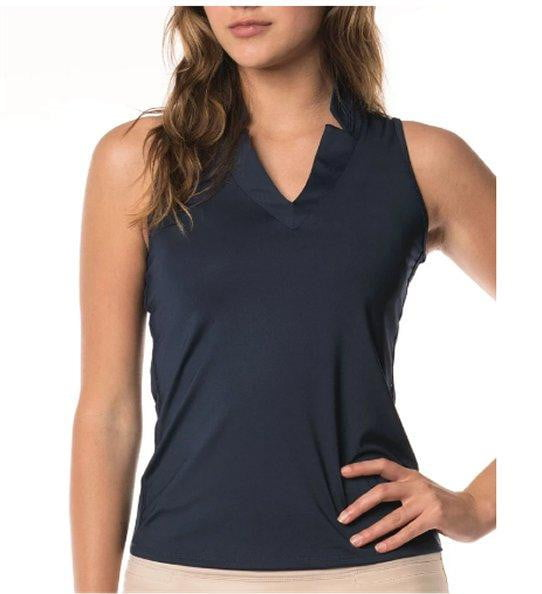 Shirts,Lucky in Love,Lucky in Love Solid V-neck Sleeveless Shirt - Navy or White,the-ladies-pro-shop-2,ladiesproshop,ladiesgolf,golfclothes,ladiesgolfclothes,cutegolfclothes,womensgolfclothes,ladiesgolfclothing,womensgolfclothing