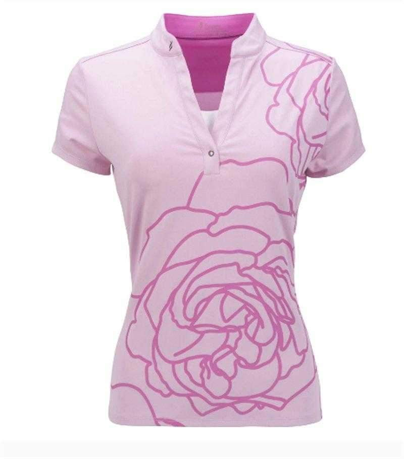 Shirts,Nancy Lopez,NANCY LOPEZ PLUSH SHORT SLEEVE POLO PLUS CAMEO/HOT PINK,the-ladies-pro-shop-2,ladiesproshop,ladiesgolf,golfclothes,ladiesgolfclothes,cutegolfclothes,womensgolfclothes,ladiesgolfclothing,womensgolfclothing