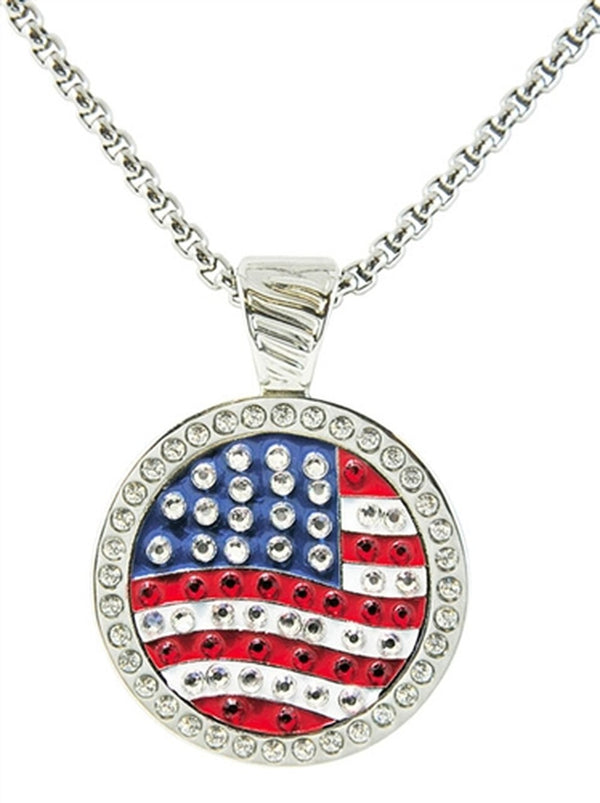 Navika Crystal Ball Marker Magnetic Necklace adorned with Crystals-Assorted Markers
