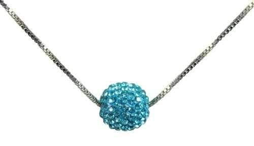 Necklaces,Navika,Navika Swarovski Crystal Floating Golf Ball Necklace,the-ladies-pro-shop-2,ladiesproshop